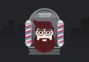 Hipster Lifestyle. Hipster Man dans le salon de coiffure pour Illustration de style de vie. Jeune homme Hipster à l'intérieur du salon de coiffure dans la ville. vecteur