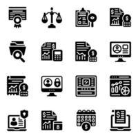 calculs et jeu d & # 39; icônes de sécurité vecteur