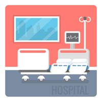 Chambre d'hôpital vecteur