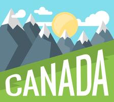 Paysage du Canada vecteur