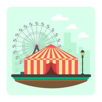 Illustration de cirque colorée vecteur