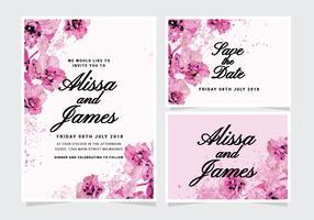 Invitation de mariage floral de vecteur