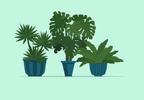 Illustration vectorielle de plante en pot vecteur