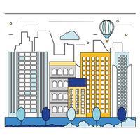 Illustration de vecteur City Art Art Cityscape
