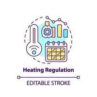 icône de concept de régulation de chauffage vecteur
