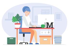Illustration vectorielle de bureau