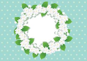 Couronne de fleurs de jasmin vecteur
