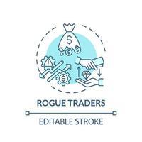 icône de concept de commerçants voyous vecteur
