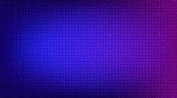 Puce de circuit violet foncé sur fond de technologie, conception de concept numérique et de sécurité de haute technologie vecteur
