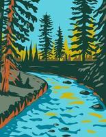 Apache-Sitgreaves les forêts nationales le long du bord du mogollon vecteur