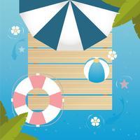 Vue de dessus de vecteur Illustration de bel été