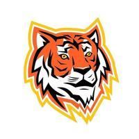 mascotte tête de tigre du Bengale vecteur