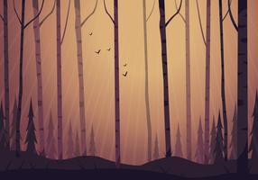 Illustration de paysage de forêt de vecteur
