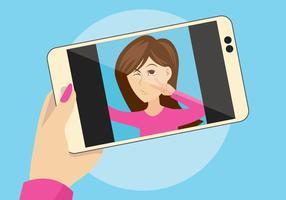 illustration vectorielle selfie vecteur