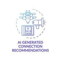 icône de concept de recommandations de connexion généré par ai vecteur
