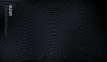 fond noir avec un design de vague de ligne vecteur