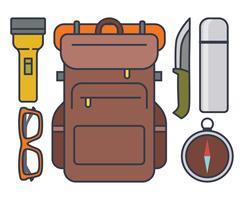 Équipement de camping vecteur