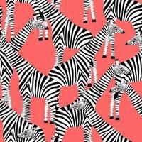 fond rose avec des girafes qui veulent être des zèbres vecteur
