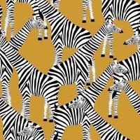 fond doré avec des girafes qui veulent être des zèbres vecteur