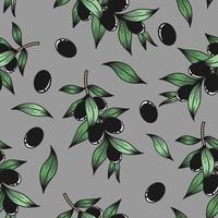 fond gris avec des branches d'olivier vecteur