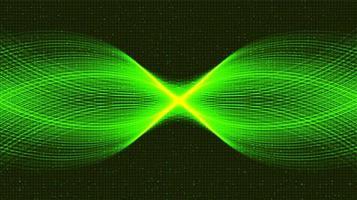 fond de technologie ondulant vert vecteur