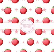 modèle sans couture de tomate mignon. joli motif végétal vecteur