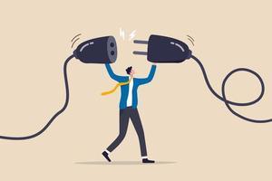 continuité des affaires, recharge d'énergie ou connexion des personnes pour faire progresser ou surpasser le concept de difficulté de travail vecteur