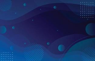 fond bleu abstrait ondulé fluide vecteur