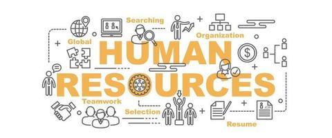 bannière de vecteur de ressources humaines