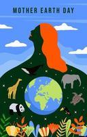 bonne fête de la terre mère vecteur