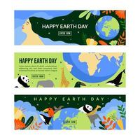bannière du jour de la terre mère vecteur