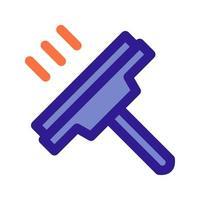 icône de contour de nettoyage de vitre. élément vectoriel de l'ensemble, dédié au nettoyage et à l'hygiène.