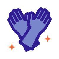 icône de contour de gants en latex. élément vectoriel de l'ensemble, dédié au nettoyage et à l'hygiène.