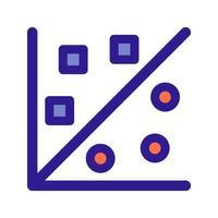 icône de contour de visualisation graphique. élément vectoriel de l'ensemble, dédié au big data et à l'apprentissage automatique.