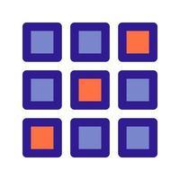 Icône de contour de tableau 2D. élément vectoriel de l'ensemble, dédié au big data et à l'apprentissage automatique.