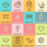 conception de contour de bébé vecteur