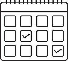 icône de ligne pour demande de rendez-vous vecteur
