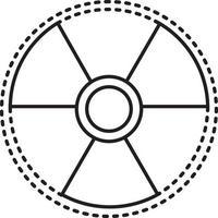 icône de la ligne pour le signe du rayonnement vecteur