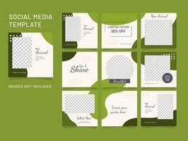 modèle de puzzle de publication de médias sociaux mode femmes vecteur