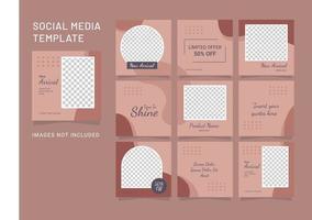 modèle de médias sociaux post mode femmes puzzle vecteur