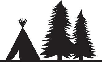 illustration vectorielle de wigwam amérindien vecteur