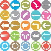 icônes plates de flèche vecteur