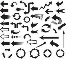 jeu d & # 39; icônes de flèches vecteur