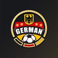 Patch de football allemand vecteur