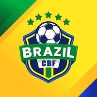Patch de football brésilien vecteur