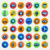 jeu d & # 39; icônes appareil numérique vecteur