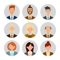 avatars de gens d'affaires vecteur