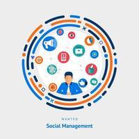 emplois de gestion sociale vecteur