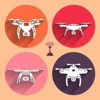 vecteur, ensemble, drones vecteur