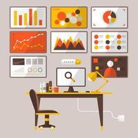 illustrations de marketing numérique vecteur